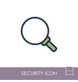 magnifiter icon security sign vector image