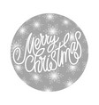merry christmas - handmade lettering vector image vector image