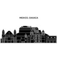 mexico oaxaca architecture urban skyline with vector image vector image