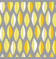 mid century modern feather or leaf pattern vector image vector image