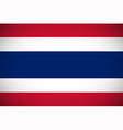 national flag thailand vector image vector image