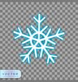 neon snowflake icon vector image vector image
