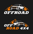 offroad logo template vector image vector image