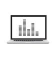 opened laptop on the timetable screen development vector image
