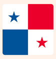 panama square flag button social media vector image vector image