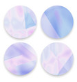 pastel holographicgradient round frames set vector image