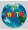 Planet Earth outline made from mosaic vector image