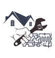 plumbing in house design vector image