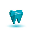 polygonal abstract tooth vector image