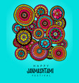poster for festival of happy krishna janmashtami vector image vector image