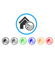 realty radar rounded icon vector image vector image