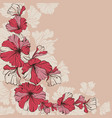 red flowers on a beige vector image vector image
