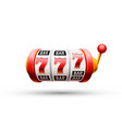 red slot machine wins the jackpot vector image vector image
