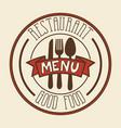 restaurant menu sign vector image