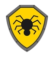 security shield with spider isolated icon design vector image vector image