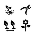 seedling gardening simple related icons vector image
