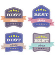 set of badges with ribbons vector image