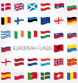 Set of flags with waves for your design vector | Price: 1 Credit (USD $1)