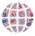 shopping composition of mosaic globe icon vector image