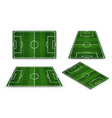 soccer field european football stadium court for vector image vector image
