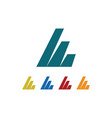 square shape company logo vector image vector image
