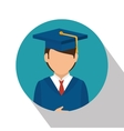 student graduation school set elements design vector image vector image