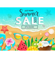summer sale 2019 top view banner vector image vector image