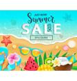 summer sale 2019 top view banner vector image