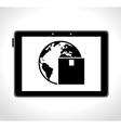 tablet digital delivery worldwide cargo vector image