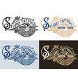 tattoo logovintage style in four colors vector image vector image