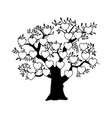 the family tree genealogical silhouette vector image vector image