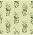 the pineapple sketch seamless pattern vector image vector image