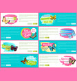 total spring sale 70 off stickers on web posters vector image vector image