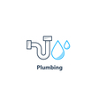 Tube and drop plumbing logo vector image vector image