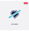 two color love arrow icon from love wedding vector image