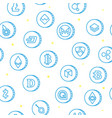 various cryptocurrency symbols seamless pattern vector image