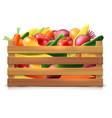 Vegetables Harvest Template vector image