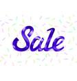 violet metal lettering sale price offer deal vector image