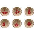 button coffee vector image