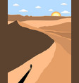 a lost man in desert vector image