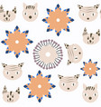 abstract animal cats seamless pattern it is vector image