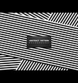 abstract black and white op art stripe line vector image