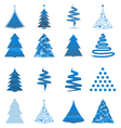 abstract christmas trees vector image vector image