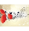 abstract musical floral background vector image vector image