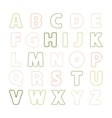 Alphabet thin line vector image
