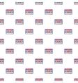Audio cassette pattern cartoon style vector image vector image