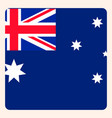 australia square flag button social media vector image