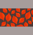 autumn orange background with leaves modern vector image vector image