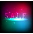 Banner with neon inscription Sale vector image