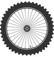 bicycle wheel symbol bike rubber mountain vector image vector image